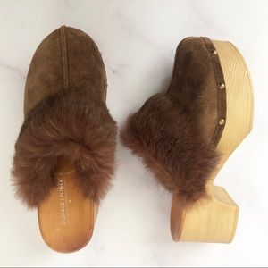 NEW Donald J. Pliner | Willo Suede and Fur Clog